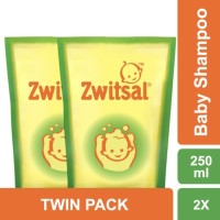 Zwitsal Baby Shampoo Natural with AVKS Pouch 250ML - Twin Pack