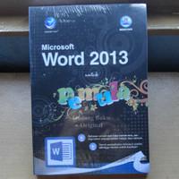 Buku Microsoft Word 2013 Untuk Pemula