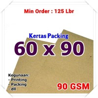 Kertas Packing | Kraft Bungkus | Brown Sack | 60 x 90 cm 90 GSM