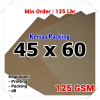 Kertas Packing | Kraft Bungkus | Brown Sack | 45 x 60 cm 125 GSM