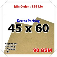 Kertas Packing | Kraft Bungkus | Brown Sack | 45 x 60 cm 90 GSM