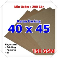 Kertas Packing | Kraft Bungkus | Brown Sack | 40 x 45 cm 150 GSM