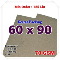 Kertas Packing | Kraft Bungkus | Brown Sack | 60 x 90 cm 70 GSM