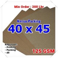 Kertas Packing | Kraft Bungkus | Brown Sack | 40 x 45 cm 125 GSM
