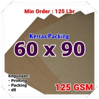 Kertas Packing | Kraft Bungkus | Brown Sack | 60 x 90 cm 125 GSM