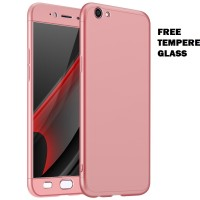 Casing HP OPPO F1S full cover baby skin ultra thin hard case pink