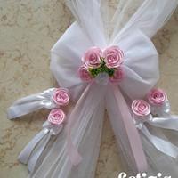 hiasan pita bunga mobil pengantin,dekorasi mobil wedding + bunga pintu