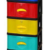 Jual lemari NAPOLLY laci plastik 5 susun penyimpanan baju anak warna warni Murah