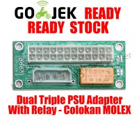 Dual PSU Adapter With Relay - MOLEX 4 PIN