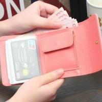 HOT Dompet wanita murah uang receh / dompet kartu motif polos - FTS045