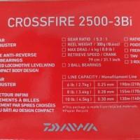 New reel pancing spinning DAIWA crossfire 2500 Bi TERLARIS