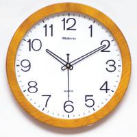 Jam Dinding Diameter 32 CM - List Tebal Urat Kayu
