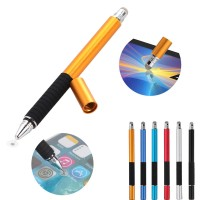 2 in 1 Multifunction Fine Point Round Thin Tip Touch Screen Pen Stylus