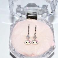 anting hello kitty silver lapis emas putih / jewellery / perhiasan