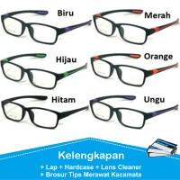 Frame Kacamata Pria Sporty Murah Tanpa Lensa Minus