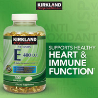 OBRAL MURAH kirkland vitamin e 400 iu vit E 500 sg