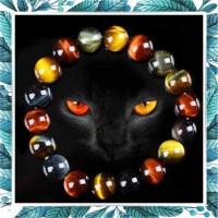 Gelang red blue yellow Tiger Eye Biduri Sepah