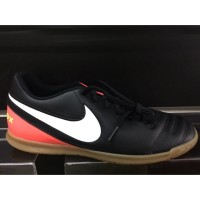 HOt Sepatu futsal nike original Tiempox rio 3 IC black/white/orange