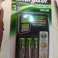 Hemat Charger Energizer Recharge Value 4slots bonus 4x1300mAh battery