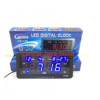 (Dijamin) Jam Dinding Digital LED DIGITAL CLOCK CAIXING CX-2158 (BIRU)