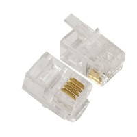 (Sale) konektor Rj9 untuk kabel telepon Spiral