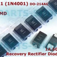 M1 SMD Dioda 1N4001 1A 50V IN4001 Silicon Diode Rectifier 1 A 50 V