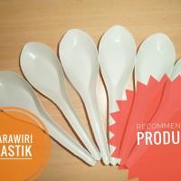 sendok bebek plastik putih susu 144pcs (lihat video real)