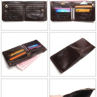 CONTACT'S Male Card ID Leather Men Wallets Fashion dompet pria