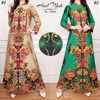 abaya maxi maju mundur cantik