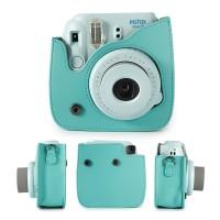 Fujifilm Polaroid Instax Mini 8 / 9 Leather Bag / Tas / Case - Mint