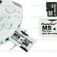 PhotoFast (Adapter Dual MicroSD to Memory Stick Pro Duo) without MSD