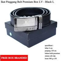 Gesper / Ikat Pinggang / Sabuk pria LV Premium Hitam L