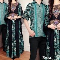 38 CP Raffi Kaftan Batik Couple Baju Pasangan Gamis Sutera Seruti Impo