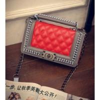 tas slempang sling bag besar medium wanita BAGUS merah mentah abu tali