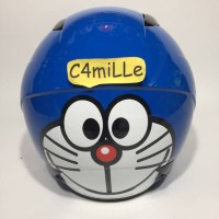 HELM MDS SPORT R3 JR LTD DORAEMON SMILEY BLUE WHITE HELM ANAK