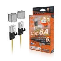 Magic CAT.6A Ultra Slim Cable-Silver-3M (CAT6A-R03GD)