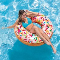 Ban Renang Rainbow Sprinkle Donut Tube 1.14m - INTEX 56263