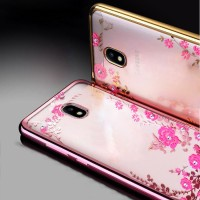 Samsung J7 Plus 2017 Dual Camera soft case casing hp cover TPU FLOWER