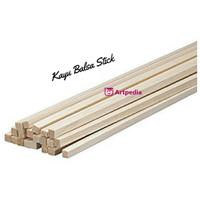 Kayu Balsa Stick 5mm x 5mm Panjang 0.5 Meter