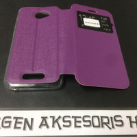 Flip Cover Andromax A Smartfren Leather Case  Sarung HP T2909