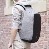 Smart Backpack anti Maling model XD Design Trend XD-USB - Grey Black