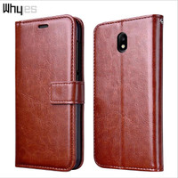 LEATHER FLIP COVER WALLET Samsung J7 Plus 2017 Dual case kulit dompet