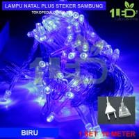 Jual Lampu Natal LED Biru Twinkle Light hias pohon Christmas Murah