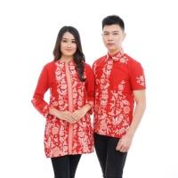 CPPS115 Baju Batik Couple Primis Model Seragam Kantor Terbaru Wanita