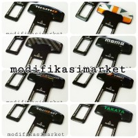 seat belt buckle / belt buzzer alarm stopper colokan seatbelt Carbon