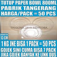 Tutup paper bowl 800ml hanya lid mangkok kertas 800 ml