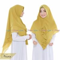 Jilbab Instan Hijab Syari Kerudung Khimar Ceruti 2 Layer Rempel Nesrin