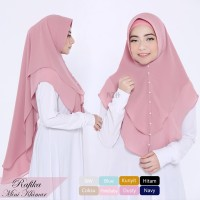 Jilbab Instan Syari Hijab Kerudung Khimar Ceruti 2 Layer Rafika Murah