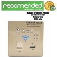 Wall Embedded Wireless AP Router - Gold
