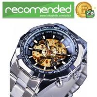 Forsining Jam Tangan Mechanical Luxury Pria - SLZe126 - Silver Gold